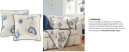"Madison Park Bayside Reversible 20"" Square Printed Pillow Pair"