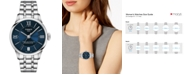 Tissot Women's Swiss Chemin des Tourelles Powermatic 80 T-Classic Gray Stainless Steel Bracelet Watch 32mm