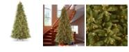 "National Tree Company National Tree 9' ""Feel Real"" Tiffany Fir Slim Hinged Tree with 800 Clear Lights"