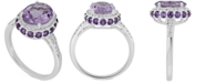 Macy's Amethyst (2-1/3 ct. t.w) and White Topaz (1/6 ct. t.w) Ring in Sterling Silver