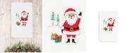 Linum Home CLOSEOUT!  Christmas Santa Waving 100% Turkish Cotton Hand Towel
