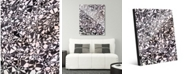 "Creative Gallery Cluster Slate Abstract 20"" x 24"" Acrylic Wall Art Print"