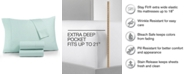 AQ Textiles AQ Textile Optimal Performance Stay fit 4-Pc King Extra Deep Pocket Sheet Set, 625 Thread Count Cotton Blend