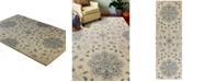 "BB Rugs Nico NIC-106 Ivory/Blue 2'6"" x 8' Runner Area Rug"