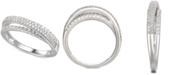 Macy's Cubic Zirconia Split-Band Ring in Sterling Silver