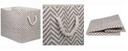 Design Imports Paper Bin Chevron, Rectangle