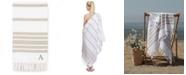 Linum Home  Personalized Herringbone Pestemal Beach Towel Collection