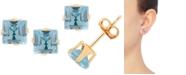Macy's Blue Topaz Stud Earrings (1-3/8 ct. t.w.) in 14k Gold