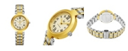 Stuhrling Alexander Watch A203B-02, Ladies Quartz Date Watch with Yellow Gold Tone Stainless Steel Case on Yellow Gold Tone Stainless Steel Bracelet