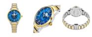 Stuhrling Alexander Watch A204B-03, Ladies Quartz Moonphase Date Watch with Yellow Gold Tone Stainless Steel Case on Yellow Gold Tone Stainless Steel Bracelet