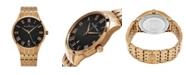 Stuhrling Alexander Watch A103B-04, Stainless Steel Rose Gold Tone Case on Stainless Steel Rose Gold Tone Bracelet