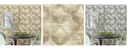 "Brewster Home Fashions Alchemy Geometric Wallpaper - 396"" x 20.5"" x 0.025"""