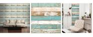 "Brewster Home Fashions Scrap Wood Wallpaper - 396"" x 20.5"" x 0.025"""