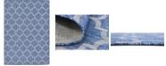 Bridgeport Home Pashio Pas5 Navy Blue 7' x 10' Area Rug