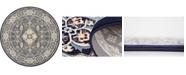 Bridgeport Home Zara Zar4 Navy Blue 10' x 10' Round Area Rug