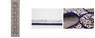 Bridgeport Home Zara Zar6 Navy Blue 3' x 13' Runner Area Rug