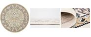 Bridgeport Home Zara Zar7 Ivory 10' x 10' Round Area Rug