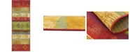 Bridgeport Home Pashio Pas4 Multi 2' x 6' Runner Area Rug