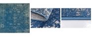 Bridgeport Home Basha Bas1 Blue 8' x 8' Square Area Rug