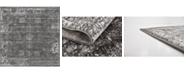 Bridgeport Home Basha Bas1 Dark Gray 6' x 6' Square Area Rug