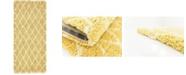 """Bridgeport Home Fazil Shag Faz3 Yellow 2' 7"""" x 6' Runner Area Rug"""