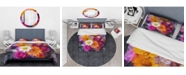 Design Art Designart 'Bouquet Of Flowers Watercolor' Traditional Duvet Cover Set - Queen