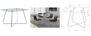 """Monarch Specialties 40"""" Dia Clear Dining Table"""