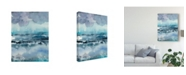"Trademark Global Chariklia Zarris Blue Tide I Canvas Art - 20"" x 25"""