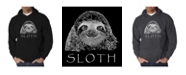 LA Pop Art Men's Word Art Hoodie - Sloth
