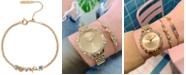Olivia Burton Swarovski Crystal & Imitation Pearl Chain Bracelet