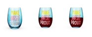 Blush Make Yourself Proud Stemless Wine Glass