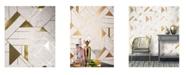 "Advantage 20.5"" x 369"" Gulliver Marble Geometric Wallpaper"