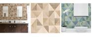 "Advantage 20.5"" x 369"" Simpson Light Geometric Wood Wallpaper"