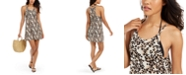 Miken Juniors' Leopard-Print Cover-Up Dress, Created for Macy's