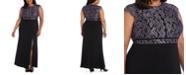 Morgan & Company Trendy Plus Size Glitter Lace Dress