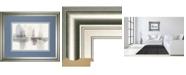 "Classy Art Improvisation Il Gray Crop by Mike Schick Framed Print Wall Art - 34"" x 40"""