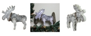 """Northlight 16"""" Natural Wood Standing Christmas Moose Table Top Figure"""