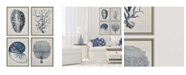 """Paragon Picture Gallery Paragon Coastal Framed Wall Art Set of 4, 26"""" x 20"""""""