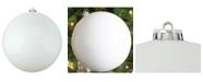 "Northlight Winter White Shatterproof Shiny Christmas Ball Ornament 10"" 250mm"