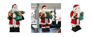 Northlight 8' Huge LED Lighted Musical Inflatable Santa Claus Christmas Figure with Gift Bag