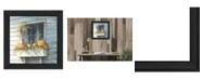"Trendy Decor 4U Window Dressing By John Rossini, Printed Wall Art, Ready to hang, Black Frame, 15"" x 15"""