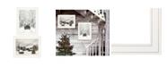 "Trendy Decor 4U Antique Christmas 2-Piece Vignette by Lori Deiter, White Frame, 19"" x 15"""