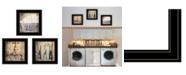 "Trendy Decor 4U Wash 3-Piece Vignette by Misty Michelle, Black Frame, 15"" x 15"""