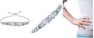 Macy's Aquamarine (3-5/8 ct. t.w.) & Diamond (1/10 ct. t.w.) Bolo Bracelet in Sterling Silver