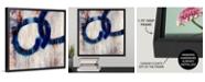 "GreatBigCanvas 'Lapis Rings I' Framed Canvas Wall Art, 16"" x 16"""