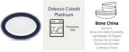 "Noritake Odessa Cobalt Platinum Oval Platter, 16"""