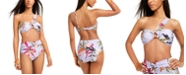 Bar III Printed One-Shoulder Bikini Top & High-Waist Bikini Bottoms, Created for Macy's