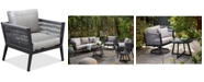 Furniture Braxtyn Outdoor Club Chair with Sunbrella® Cushions, Created for Macy's