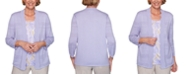 Alfred Dunner Nantucket 2-For-1 Textured Knit Top