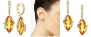 EFFY Collection EFFY® Citrine (8-1/2 ct. t.w.) & Diamond (1/4 ct. t.w.) Drop Earrings in 14k Gold
